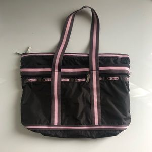 Le sport sac brown and pink tote
